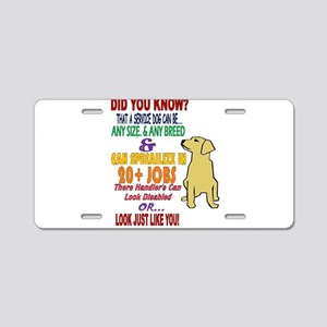 did you know service dog education Aluminum Licens